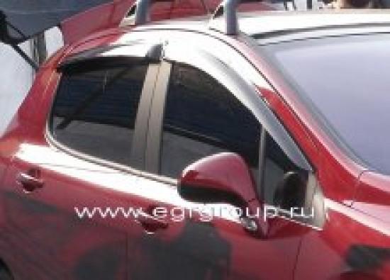 Дефлекторы боковых окон Peugeot 308 2008-2015 темные, 4 части, EGR Австралия