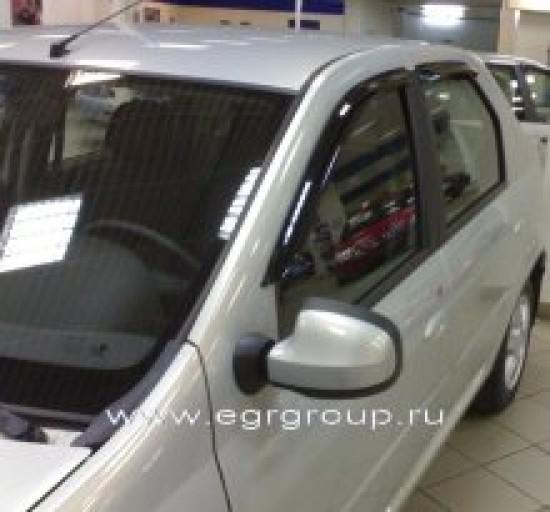 Дефлекторы боковых окон Renault Logan 2004-2014 breeze, темные, 4 части, EGR Австралия