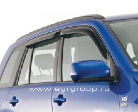 Дефлекторы боковых окон Suzuki Grand Vitara 2005-2014 темные, 4 части, EGR Австралия