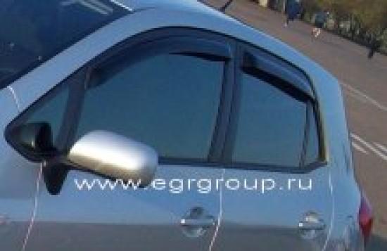 Дефлекторы боковых окон Toyota Auris 2006-2012 темные, 4 части, EGR Австралия