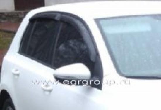 Дефлекторы боковых окон Volkswagen Golf 2009-2012 темные, 4 части, EGR Австралия