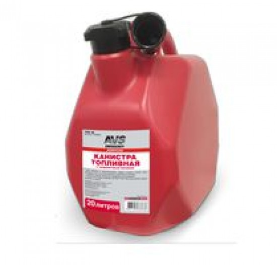 Канистра топливная пластик.20л.(красная) AVS MTK-20