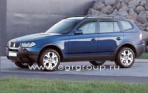 Дефлекторы боковых окон BMW X3 2003-2010 темные, 4 части, EGR Австралия