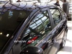 Дефлекторы боковых окон Ford Focus 2005-2011 breeze, темные, 4 части, EGR Австралия