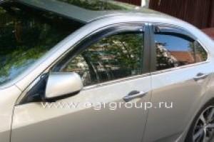 Дефлекторы боковых окон Honda Accord 2008-2012 темные, 4 части, EGR Австралия