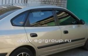 Дефлекторы боковых окон Hyundai Elantra Хетчбек 2003-2006 темные, 4 части, EGR Австралия