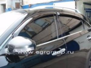 Дефлекторы боковых окон Infiniti FX 2009-2013/QX70 2013- темные, 4 части, EGR Австралия