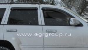 Дефлекторы боковых окон Grand Cherokee 2005-2011 темные, 4 части, EGR Австралия