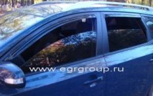 Дефлекторы боковых окон Kia Ceed 2007-2012 breeze, темные, 4 части, EGR Австралия