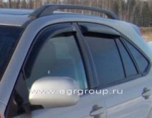 Дефлекторы боковых окон Lexus RX330 2003-2009 темные, 4 части, EGR Австралия
