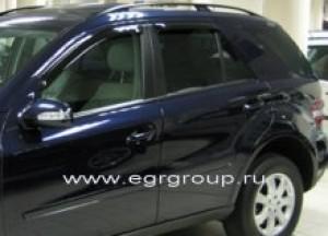 Дефлекторы боковых окон Mercedes M Class 2005-2011 темные, 4 части, EGR Австралия