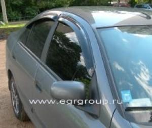 Дефлекторы боковых окон Nissan Almera 5 дверная 2000-2006 темные, 4 части, EGR Австралия