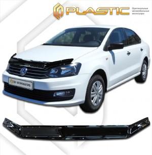 Дефлектор капота Volkswagen Polo седан (Classic прозрачный)