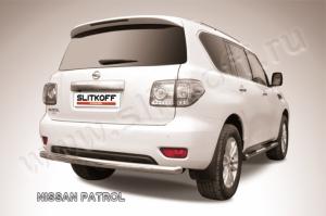 Защита заднего бампера d76 из нержавеющей стали Nissan Patrol
