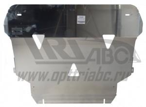 """Защита """"АВС-Дизайн"""" для картера и КПП Volvo V40 II Cross Country 2013-2017."""