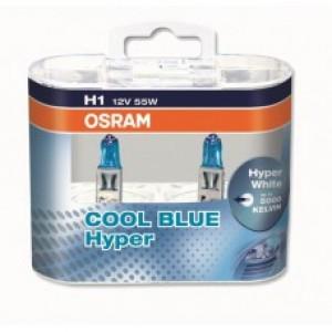 OSRAM COOL BLUE HYPER (H1, 62150CBH-DUOBOX)