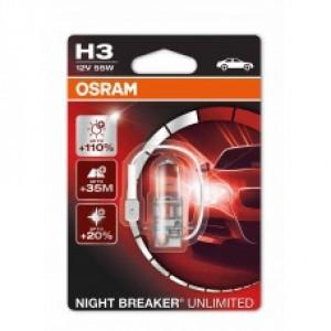 OSRAM NIGHT BREAKER UNLIMITED (H3, 64151NBU-01B)