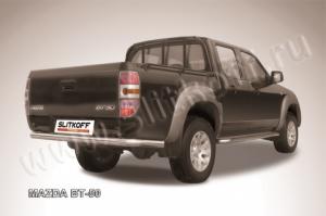 Защита заднего бампера d76 из нержавеющей стали Mazda BT-50
