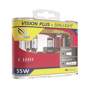Лампа HB4(Clearlight)12V-55W Vision Plus +50% Light (2 шт.)