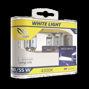Лампа H3(Clearlight)12V-55W WhiteLight (2 шт.)