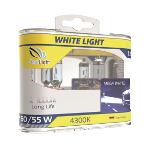Лампа H4(Clearlight)12V-60/55W WhiteLight (2 шт.)