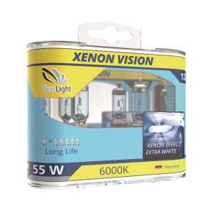 Лампа H1(Clearlight)12V-55W XenonVision (2 шт.)