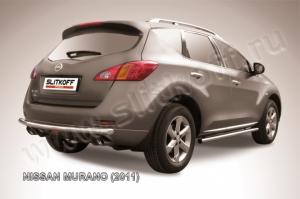 Защита заднего бампера d57 из нержавеющей стали Nissan Murano (2011)