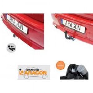 Фаркоп Aragon для Mazda 6 II седан, хэтчбек 2008-2012. Быстросъемный крюк. Артикул E4002BS