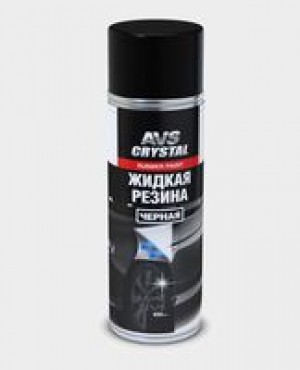 "Жидкая резина ""черный""(аэрозоль)650 мл.AVS AVK-302"