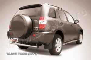 Защита заднего бампера d76 из нержавеющей стали TAGAZ TINGO (2011)