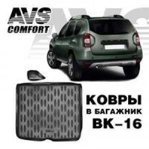 Ковёр в багажник(полиуретан) Renault Duster 4WD (2011-) (1 карман)AVS BK-16