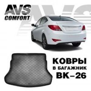 Ковёр в багажник 3D Hyundai Solaris II (2017-)(SD)AVS BK-26
