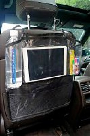 Накидка защитная на спинку переднего сиденья с отделением для планшета KM-02