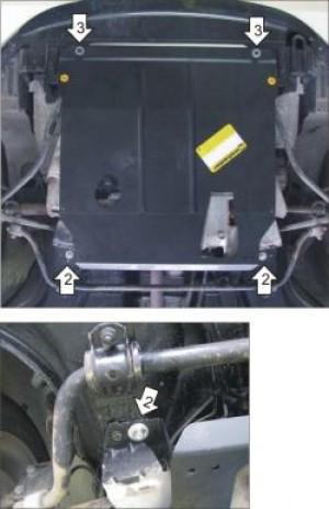 "Защита ""Мотодор"" для двигателя, КПП Lada Granta 2011-2017."