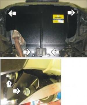 """Защита """"Мотодор"""" для картера Subaru Forester III 2008-2012."""