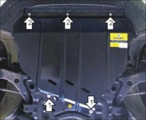 "Защита ""Мотодор"" для картера, КПП Volvo C30 2006-2010."